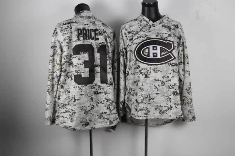 NHL Montreal Canadiens 31 Carey Price Camo Jersey