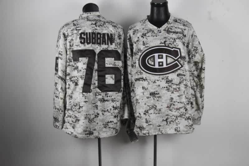 NHL Montreal Canadiens 76 P.K. Subban Camo Jersey