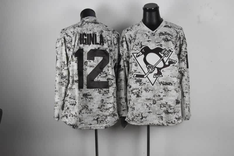 NHL Pittsburgh Penguins 12 Jarome Iginla Camo