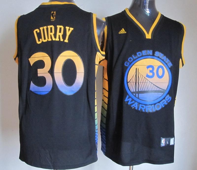 NBA Golden State Warriors 30 Stephen Curry Black Jersey
