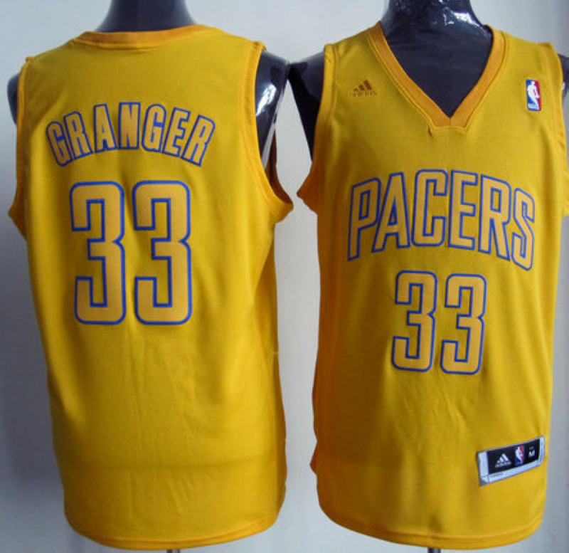 NBA Indiana Pacers 33 Danny Granger Christmas Day yellow jersey