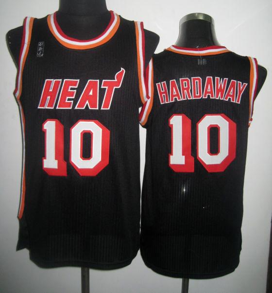 NBA Miami Heat 10 Tim Hardaway Black Jersey
