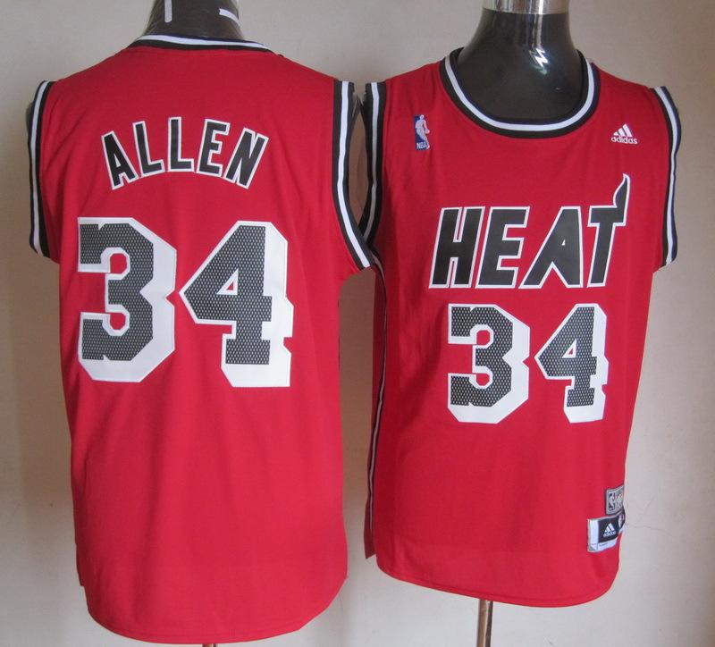NBA Miami Heat 34 Ray Allen Hardwood Classic Fashion Swingman