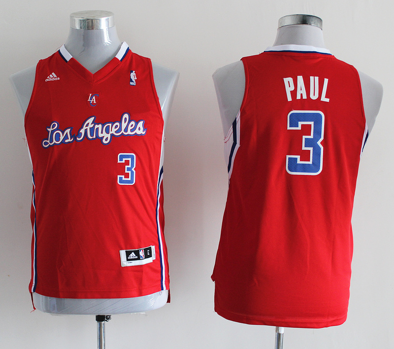 NBA Youth Los Angeles Clippers 3 Chris Paul Red