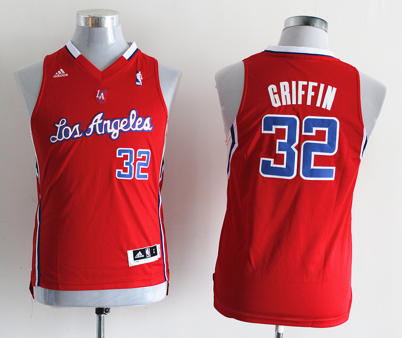 NBA Youth Los Angeles Clippers 32 Blake Grififn Red