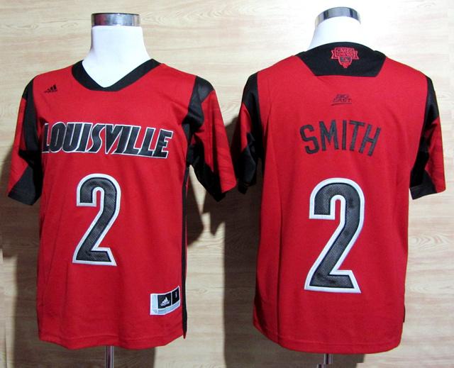 NBA NCAA adidas Louisville Cardinals 2013 March Madness 2 Russ Smith Red Jerseys