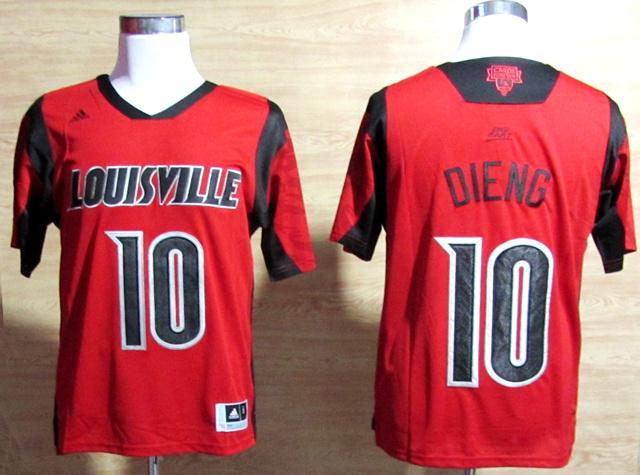 NBA NCAA adidas Louisville Cardinals 2013 March Madness 10 Gorgui Dieng Red Jersey