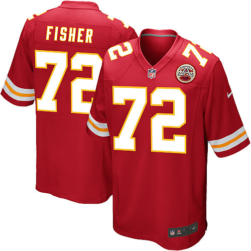 Kansas City Chiefs 72 Fisher red Nike Game Jersey