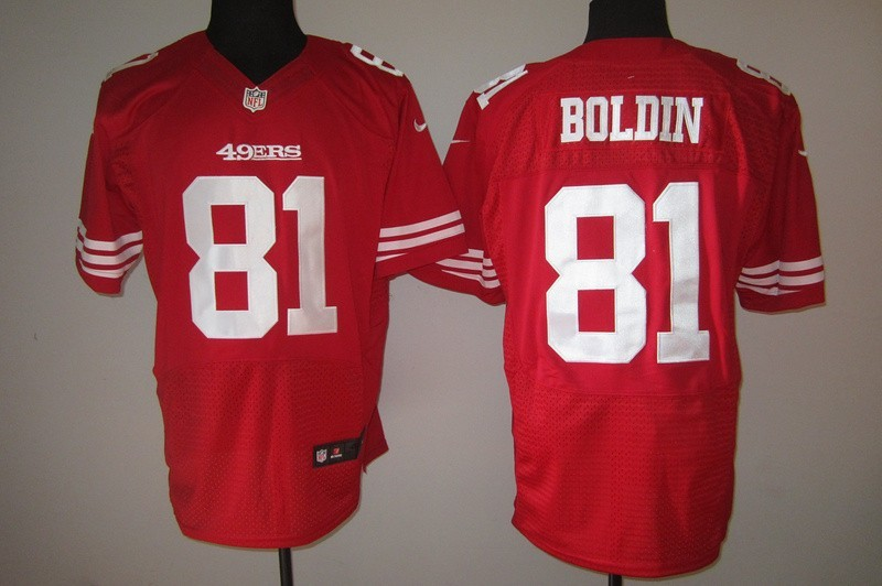 San Francisco 49ers 81 Boldin red Nike Elite Jersey