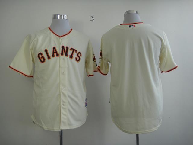 MLB San Francisco Giants Blank Cream Jersey