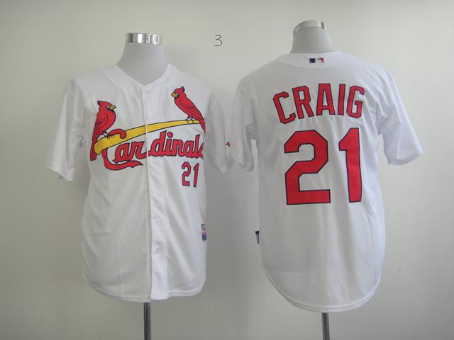 MLB St. Louis Cardinals 21 Craig White Jersey
