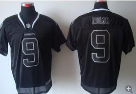 Dallas Cowboys 9 Tony Romo Nike Elite Black Champs Tackle Twill Jerseys