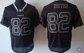 Dallas Cowboys 82 Jason Witten Nike Elite Black Champs Tackle Twill Jerseys