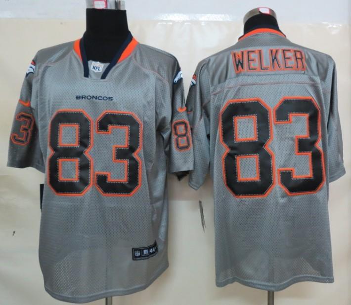 Denver Broncos 83 Welker Nike Lights Out Grey Elite Jerseysv