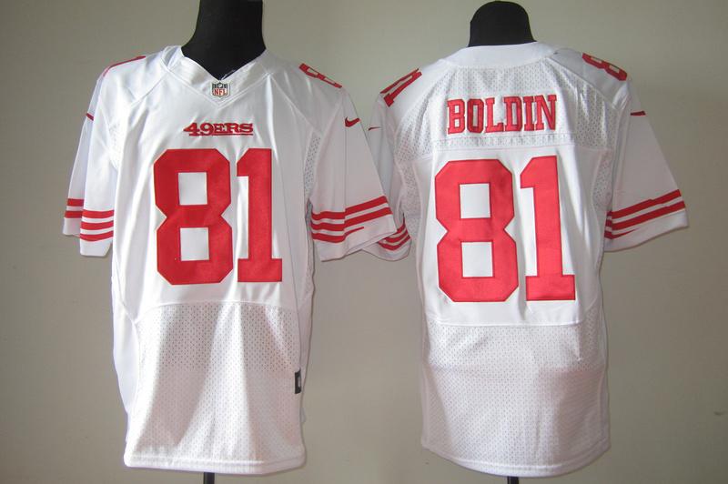 San Francisco 49ers 81 Anquan Boldin White Nike Elite Jersey