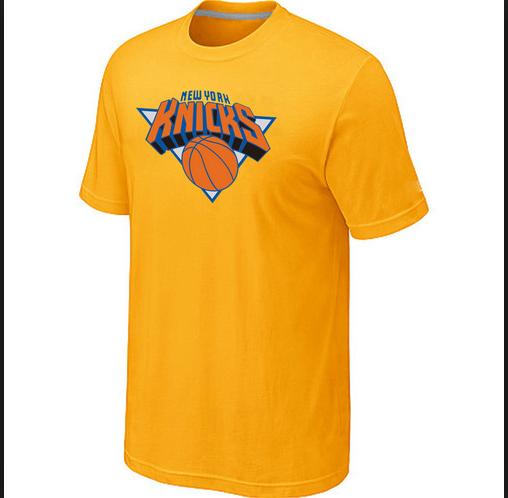 NBA New York Knicks T-Shirts Yellow