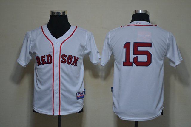 MLB Youth Jerseys Boston Red Sox 15 Pedroia White