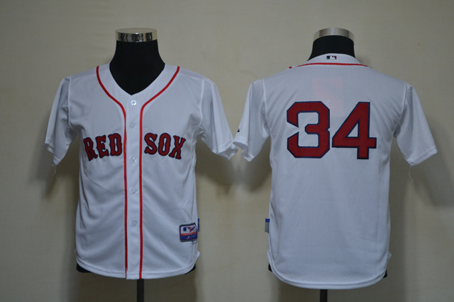 MLB Youth Jerseys Boston Red Sox 34 Ortiz White