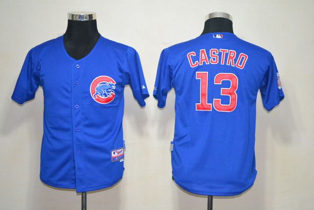 MLB Youth Jerseys Chicago Cubs 13 Castro Blue