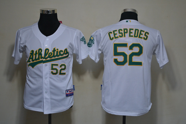 MLB Youth Jerseys Oakland Athletics 52 Cespedes White