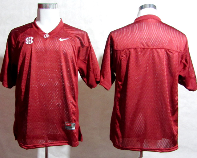 NCAA Alabama Crimson Tide Blank SEC Patch Red College Football Jersey