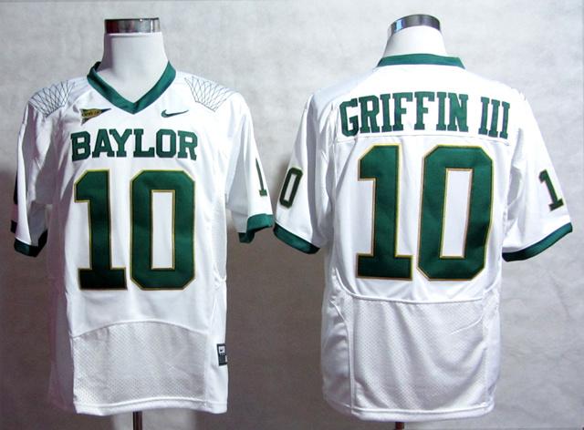 NCAA Baylor Bears Robert Giffin III 10 White Pro Combat College Football Jersey