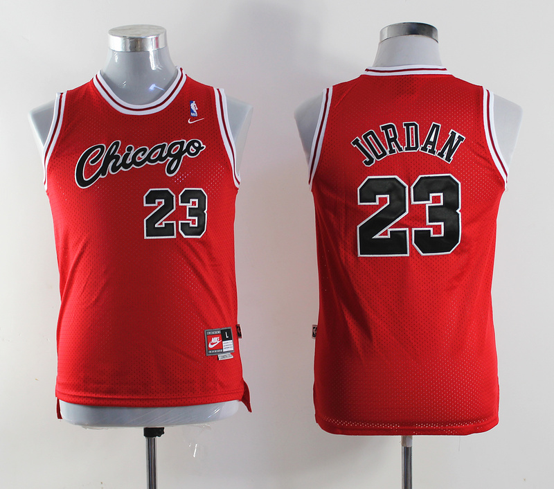 NBA Youth Chicago Bulls 23 Michael chicago on front Red