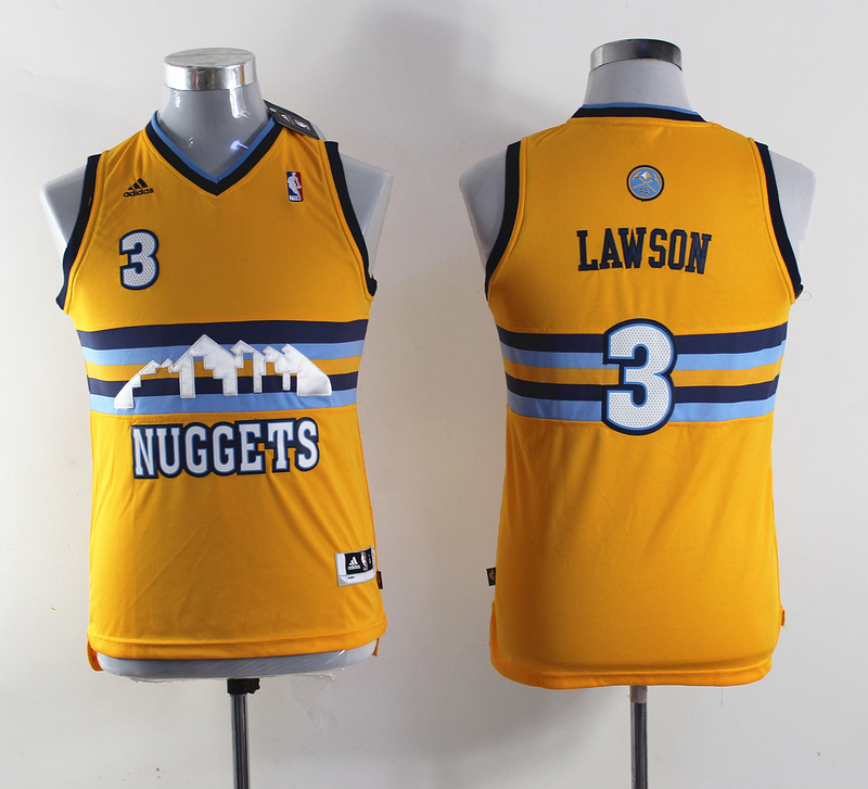 NBA Youth Denver Nuggets 3 Ty Lawson Revolution 30 Swingman Jersey
