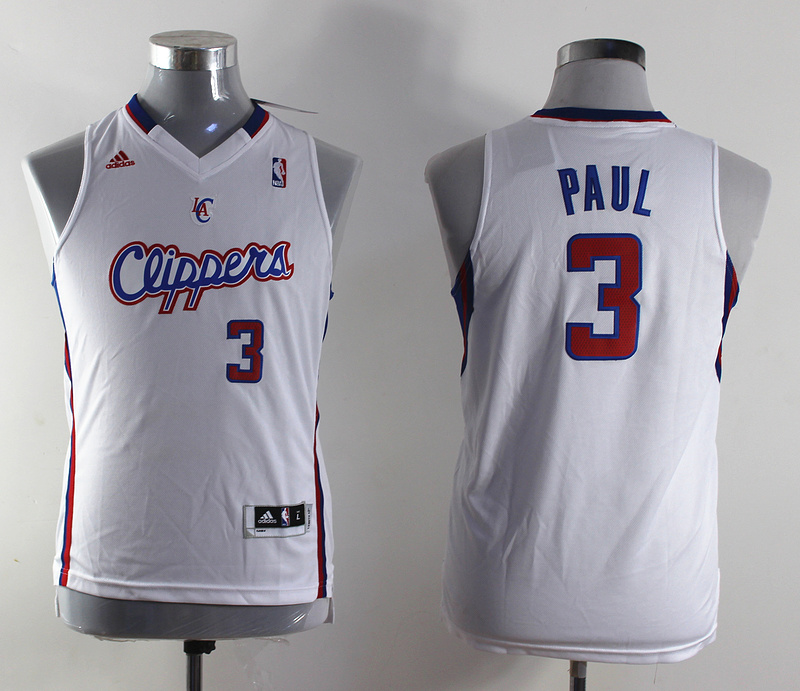 NBA Youth Los Angeles Clippers 3 Chris Paul white Swingman Jersey