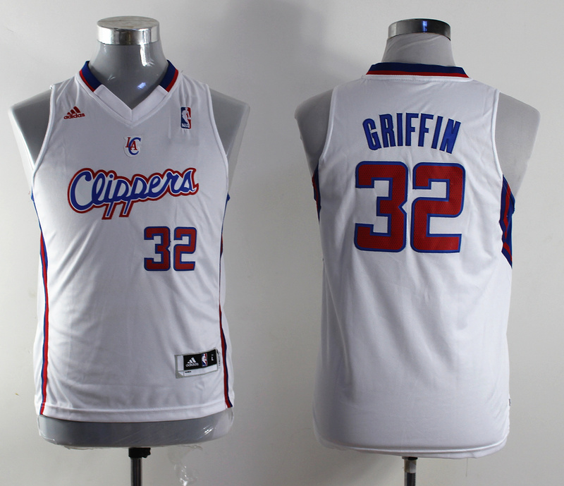 NBA Youth Los Angeles Clippers 32 Blake Griffin white Swingman Jersey