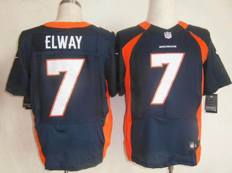 Denver Broncos 7 John Elway blue Nike Elite Jerseys
