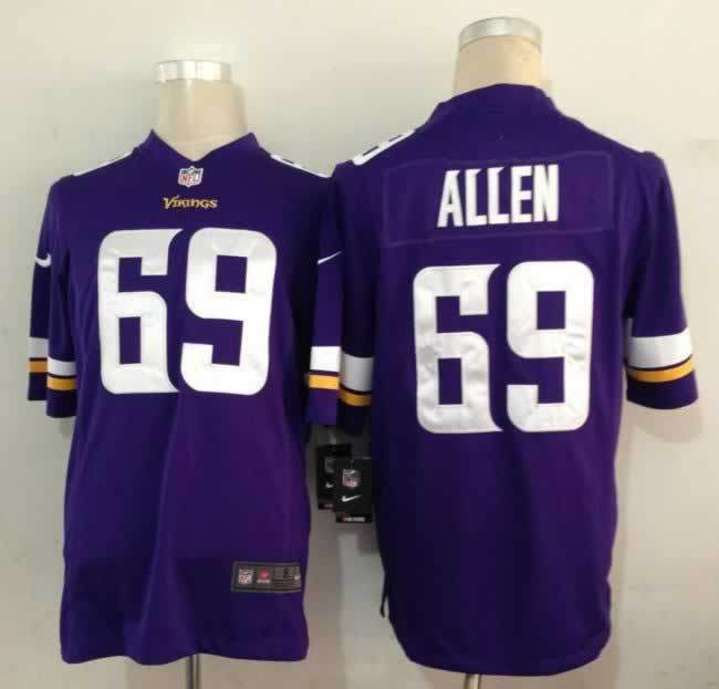 Minnesota Vikings 69 Jared Allen Purple Nike Game1 Jerseys