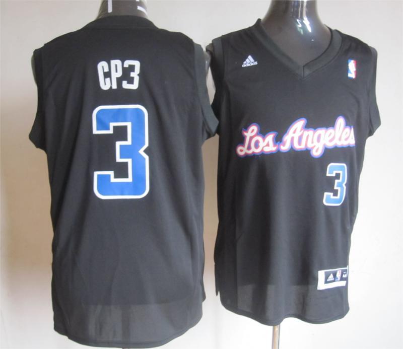 NBA Los Angeles Clippers 3 Chris Paul Black Swingman Jersey