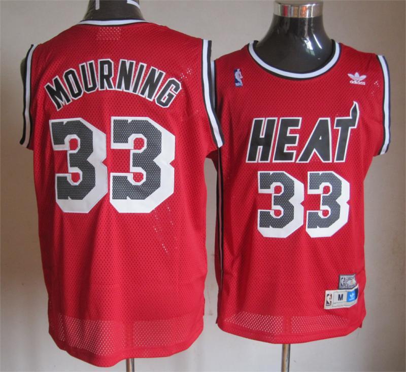 NBA Miami Heat 33 Wade Mourning red Swingman Jersey