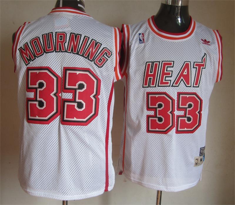 NBA Miami Heat 33 Wade Mourning White Swingman Jersey