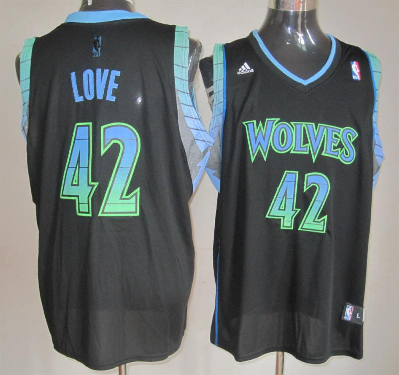 NBA Minnesota Timberwolves 42 Kevin Love black Limited Edition jersey
