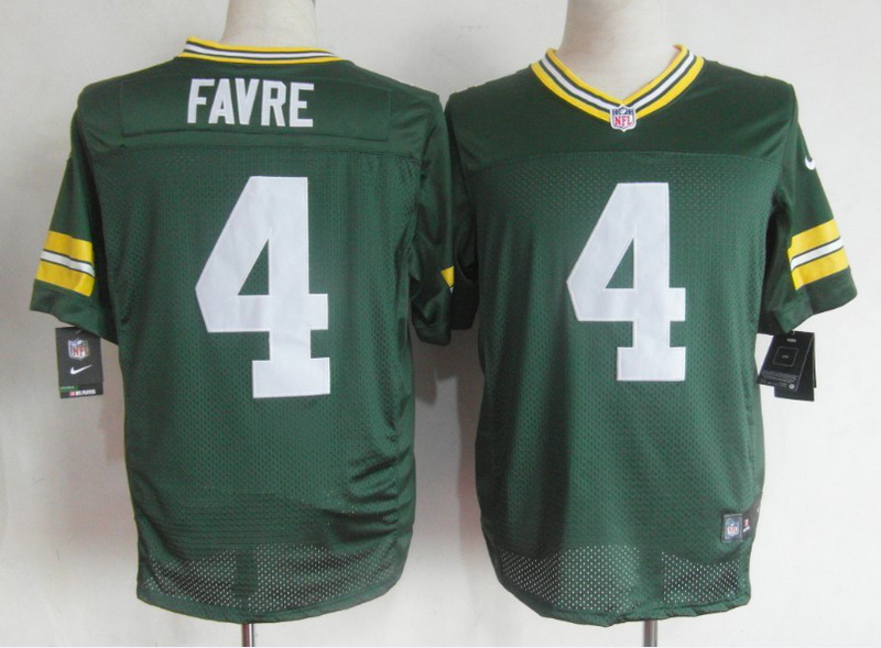 Green Bay Packers 4 Favre green Nike Elite Jerseys