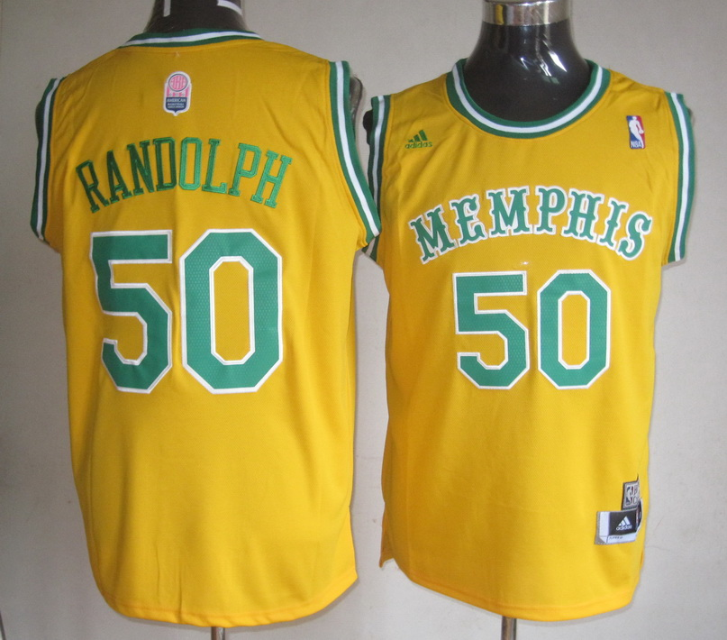 NBA Memphis Grizzlies 50 Zach Randolph Yellow Jerseys