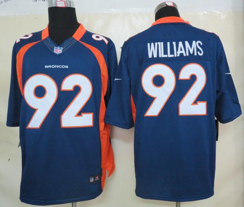 Denver Broncos 92 Williams Blue Nike Limited Jerseys