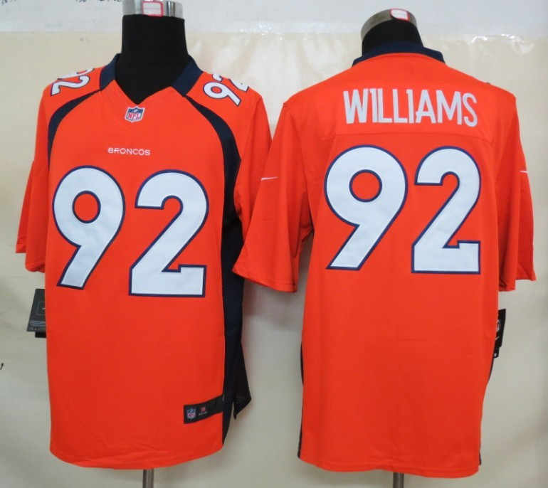 Denver Broncos 92 Williams Orange Nike Limited Jerseys