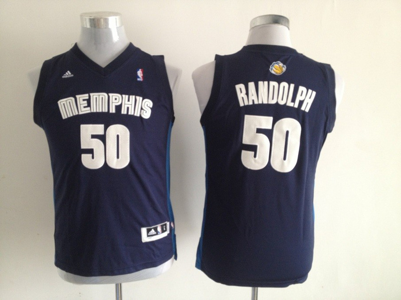 NBA Youth Memphis Grizzlies 50 Zach Randolph Dark Blue Jerseys