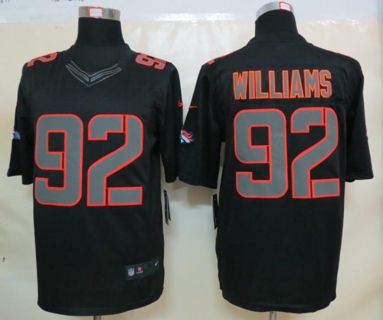 Denver Broncos 92 Williams Impact Nike Limited Black Jersey
