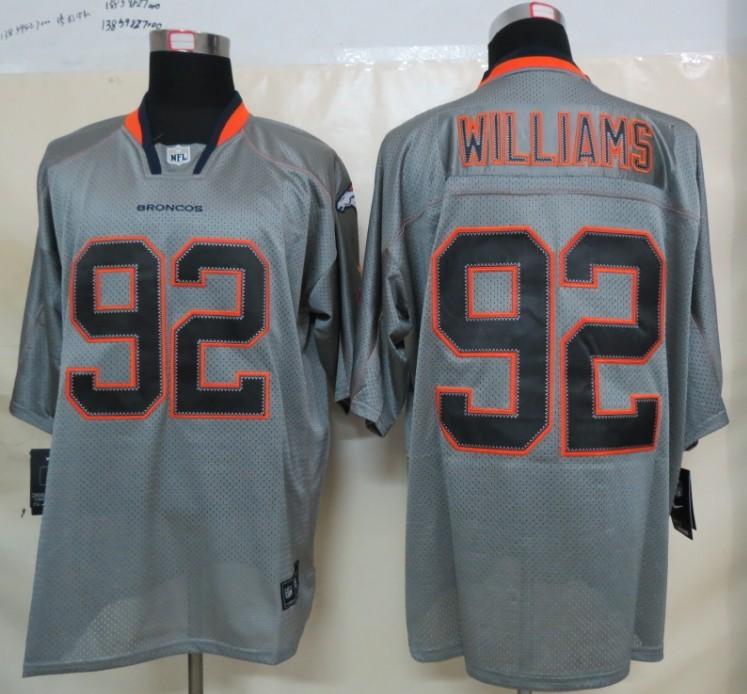Denver Broncos 92 Williams Nike Lights Out Grey Elite Jerseys