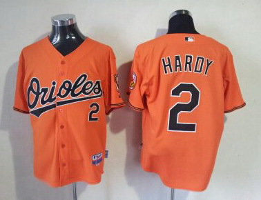 MLB Baltimore Orioles 2 J. J. Hardy Orange
