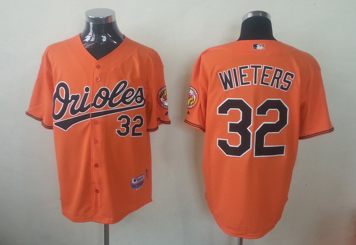 MLB Baltimore Orioles 32 Matt Wieters Orange