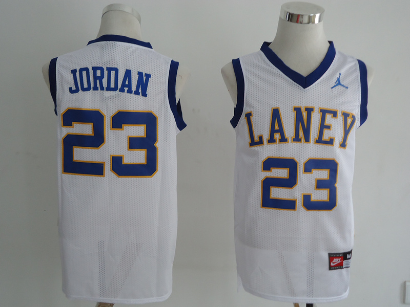 NBA NCAA Laney High School 23 Michael Jordan white