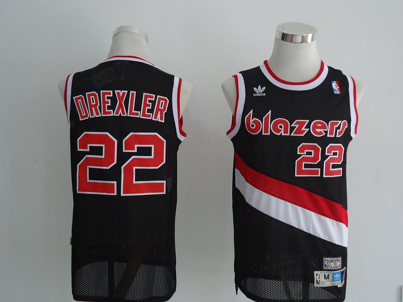 NBA Portland Trail Blazers 22 Clyde Drexler Black