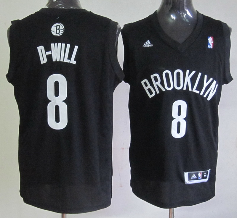 NBA Brooklyn Nets 8 Deron Williams Black Jersey
