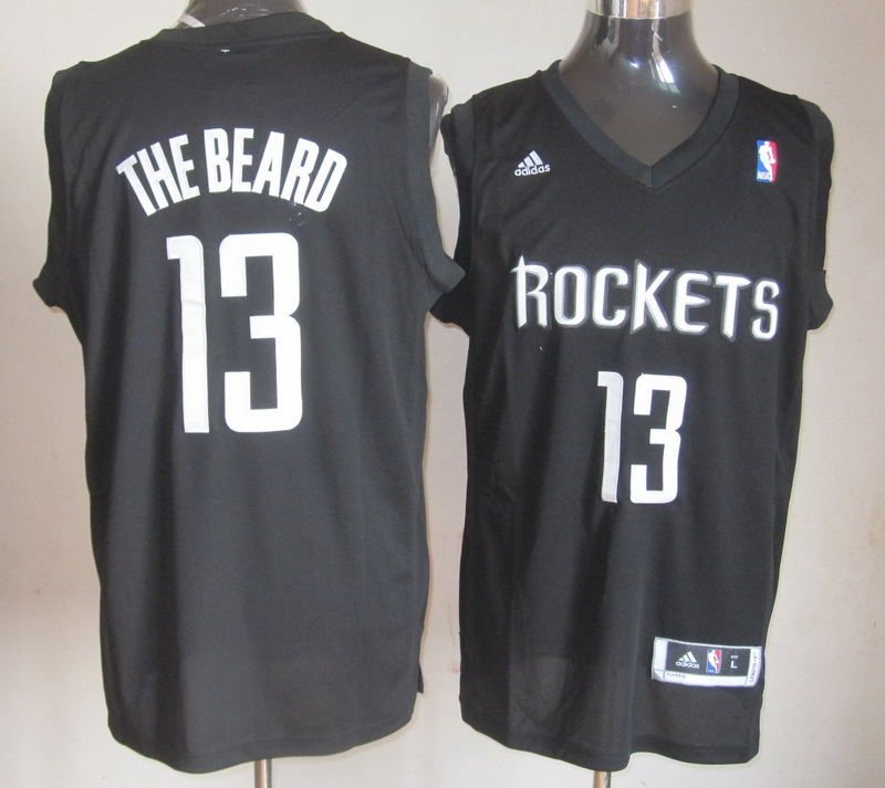 NBA Houston Rockets 13 The Beard Black Jersey