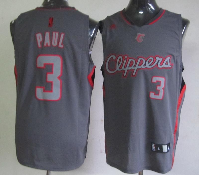 NBA Los Angeles Clippers 3 Chris Paul Grey Jerseys